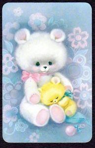 Vintage-Swap-Card-Cute-White-Bear-Baby-Bear-BLANK-BACK