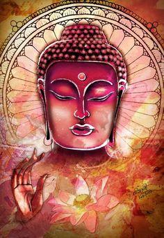 Buddha art #pink