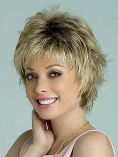 The Winter Synthetic Wig by Rene of Paris is a short sophisticated wispy layered style that is face flattering and modern. Short Layered Haircuts, Short Hairstyles For Thick Hair, Short Hair With Layers, Hairstyles With Bangs, Curly Hair Styles, Asian Hairstyles, Pixie Hairstyles, Pixie Haircuts, Short Hair Cuts For Women Easy