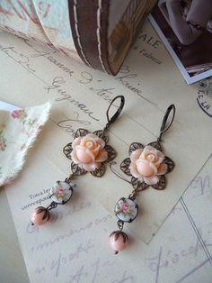 Grand Ballet Earrings III  Vintage Style by BijouxSandrineDevost