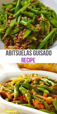 This Abitsuelas Guisado recipe is a simple yet delightful dish which recipe consists of fresh abitsuelas, tomato, and ground pork