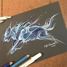 Do you want to take night with you? Pencils+markers+watercolors. My camera ate some light blue colors^^' Art © me FACEBOOK ETSY SHOP INST...