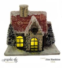 The Gentleman Crafter: The Luminary House-Graphic 45 Could modify and use Tim Holtz Village Dwelling die