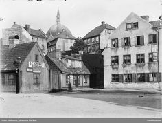 Hammersborg torg 1 og 2 i 1907 Oslo, Museum, Norway, Taj Mahal, Building, Johannes, Travel, Beautiful, Photos
