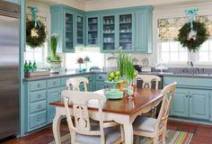 Light Blue Farmhouse Kitchens | Hier sind einige Ideen, wie Sie für eine schnelle Küchenrenovierung ...