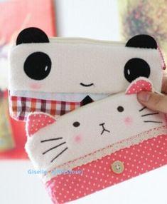 Conjuntinho de bolsas de panda. - vem 2 modelos - Yoh Store - Moda Oriental, Kawaii e Harajuku