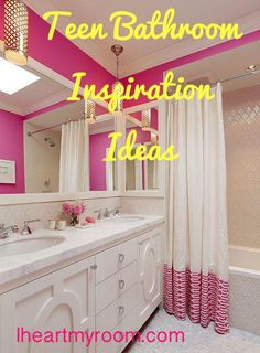 NEW on iheartmyroom.com: Teens! How to make your bathroom your own:
