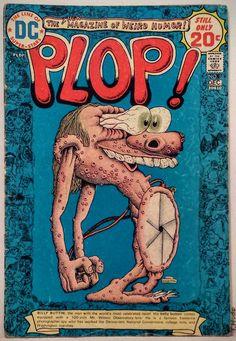 Vintage Comic Book Cover Art / ' PLOP!'