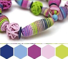 Gorgeous polymer jewelry by color palette by lyamayeva