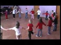 Circassian Circle The children form a circle and hold each others hands. Boys and girls alternate with each other, the boy and his left girls proceed to a couple involved). clocks 1-4 hold hands, four steps inside, bounce then four steps to the outside. clocks 5-8 repeat, but hands in the 8 . Stroke release. Repeating the melody cycles 1-4 , the boys go four steps inside, four outside while the girls clap. beats 5-8 the girls go four steps inward, rotate outward and go continued in comments