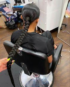 Baddie Hairstyles, Black Girls Hairstyles, Ponytail Hairstyles, Summer Hairstyles, Weave Hairstyles, Cool Hairstyles, Hairstyle Ideas, Hair Ideas, Ponytail Styles