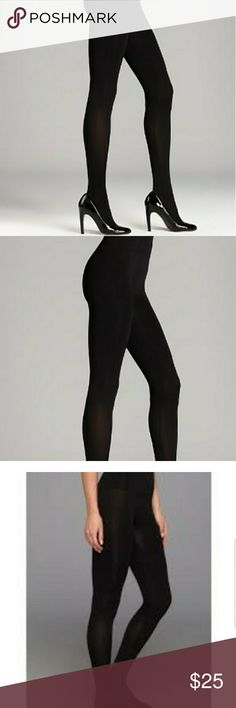 """Yummie Tights 2 pack 2 pack of footed Opaque Tights, 2 Black. Fits 5'5"""" - 6' 140 - 170. No more socks with your tights! Our hidden comfort cushion foot provides all day comfort! These tights have resilient stretch recovery with a reinforced toe and are super opaque for the most ultimate coverage. The comfort waistband has our signature flat locked seam for added comfort. Yummie by Heather Thomson Pants Leggings"""