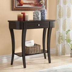 An affordable option for your entryway, this classic console table offers space to stow and style a display. Founded atop four eye-catching curved legs and featuring a rounded top, its frame is crafted Half Moon Console Table, Narrow Console Table, Accent Furniture, Modern Furniture, Table Furniture, Traditional Console Tables, Hallway Console, Hallway Paint, Classic Consoles