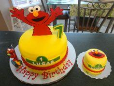 Elmo 1st Birthday Cake with Elmo Smash Cake