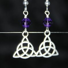 Triquerta Earrings by CraftySquirrelDesign on Etsy
