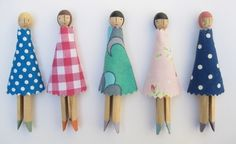Here are my latest peg dolls, which I'm packing off to Yorkshire tomorrow for an art/craft sale. This time there are some with black hair an...