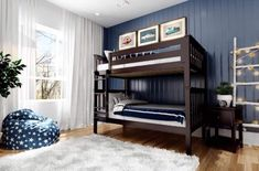 Bunk Beds With Drawers, Bunk Beds With Storage, Bed Storage, Storage Drawers, Bunk Bed With Trundle, Twin Bunk Beds, Solid Wood Bunk Beds, Bedrooms, Yurts