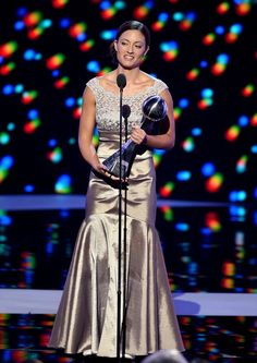 Honoree Elizabeth Marks accepts the Pat Tillman Award for Service onstage during the 2016 ESPYS at Microsoft Theater on July 13, 2016 in Los Angeles, California.
