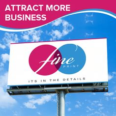Attract more business with our eye-catching signage and banners. #fineprint #signage #business