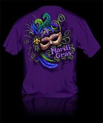 Sweet Thing Funny Mardi Gras Mask Beads Girlie Bright T-Shirt   SimplyCuteTees