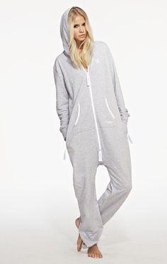 b477c34444ce OnePiece Original Onesie Grey melange Jogginghose Frauen, Schlafanzug, Grau  Meliert, Damen, Anziehen