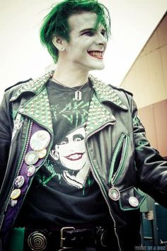 Character: Punk Joker / From: DC Comics / Cosplayer: Dylan Miller (of the Smile-X Villain Co. group) / Event: Unknown.