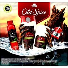 Old Spice NEW 2016 TIMBER 4 Piece Gift Set + FREE travel size Old Spice Shampoo-Conditioner: 2-DEODORANT, BODY SPRAY, BODY WASH.