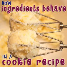 How Ingredients Behave In A Cookie Recipe ~ Cookie Chemistry... Learn what ingredients do in a cookie recipe and how to change them for different cookie results.