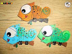 anjelicek / Magnetka - chameleon Chameleon, Snoopy, Fictional Characters, Art, Chameleons, Kunst, Fantasy Characters, Art Education, Artworks