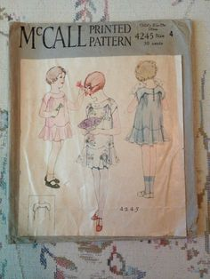 4 Vintage McCalls Patterns Youth Childrens Dated 1920S | eBay