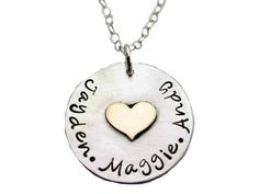 Heart of Gold Mommy Necklace