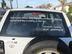 Privately owned vehicle.  Visit advancingparenting.org to read about what we do, why we do it, and our plans for the future. Bumper Stickers, Parenting Hacks, Your Child, Infant, How To Plan, Future, Reading, Children, Vehicles