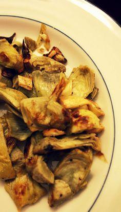 Roasted Artichokes with Garlic