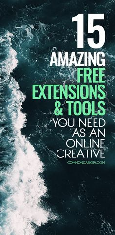 15 Amazing Extensions and Tools You Need to Know About as an Online Creative: Wow! Wish I had known about these earlier! Figure out the font of any online text, find the source of any image on the Internet, and more! Will make my life a heck of a lot easier!