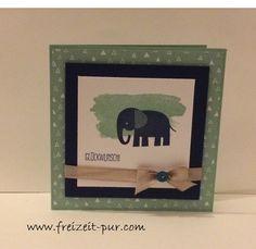 StampinUp! Perpetual Birthday Calendar, Spruch-Reif, Zoo Babies, zur Geburt
