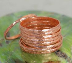 Super Thin Copper Stackable Ring(s) Copper Ring Skinny Ring Copper Band Pure Copper Ring Hammered Copper Ring Arthritis Ring Rings by Alaridesign Wire Rings, Copper Rings, Hammered Copper, Pure Copper, Copper Jewelry, Copper Wire, Copper Coin, Copper Bracelet, Boho Rings