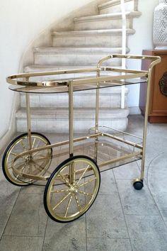 chic vintage bar cart