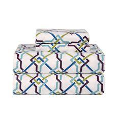 Celeste Home Lattice Ultra Soft Flannel Sheet Set
