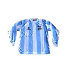 9cd19abd LE COQ SPORTIF ARGENTINA 1986 MARADONA HOME L/S RETRO JERSEY. Soccer JerseysRain  JacketWindbreakerArgentinaRetro ...