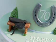 Gumpaste horse racing saddle by Sugar & Spice Gourmandise Gifts https://www.facebook.com/SugarandSpiceGourmandise