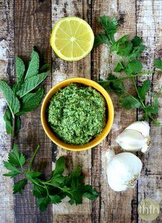 Fresh Herb and Tahini Pesto   The Healthy Family and Home