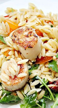 Orzo Salad with Scallops