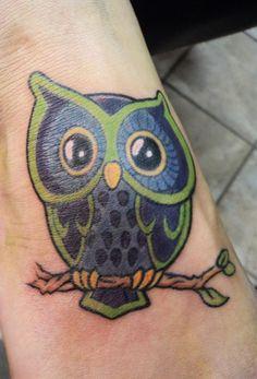 Mardi Gras Owl Tattoo!!