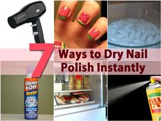 Ok, so some of us put off painting our nails because it takes so long for them to dry. Really, who has time to sit around and wait for nail polish to finish drying? If you tend to be short on time, there are a few ways that you can speed dry your nails so that they look great and you can get on...
