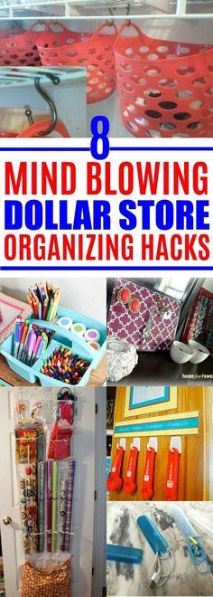 Dollar Store Organizing Ideas #DollarStoreStuff