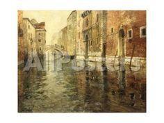 A Venetian Canal Scene by takau99 Landscapes Giclee Print - 61 x 46 cm