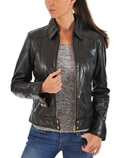 4ab652b7ca99 New Western Leather Women's Stylish Motorcycle Leather Jacket online.  genuine lambskin leather Higher-end leather-wear. Classy a