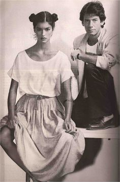 Janice Dickinson and Calvin Klein in Vogue Paris, 1977..what happened to her she used to be so pretty