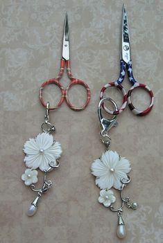 New Mother of Pearls Scissors Fob added on my web site.