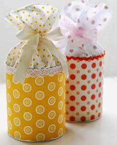 Manualidades y decoracion: Latas recicladas para souvenir de cumpleaños.